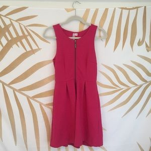 Francesca's Hot Pink Zipper Dress